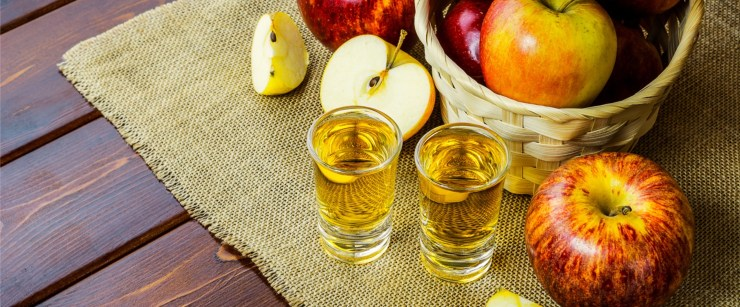 shots of apple cider vinegar