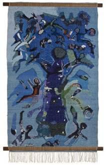 tree-monkeys-96-x-146-cms-painted-weaves-tapestries-in-silk-by-s-g-vasudev