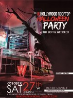 W Hollywood Halloween Rooftop LA Event