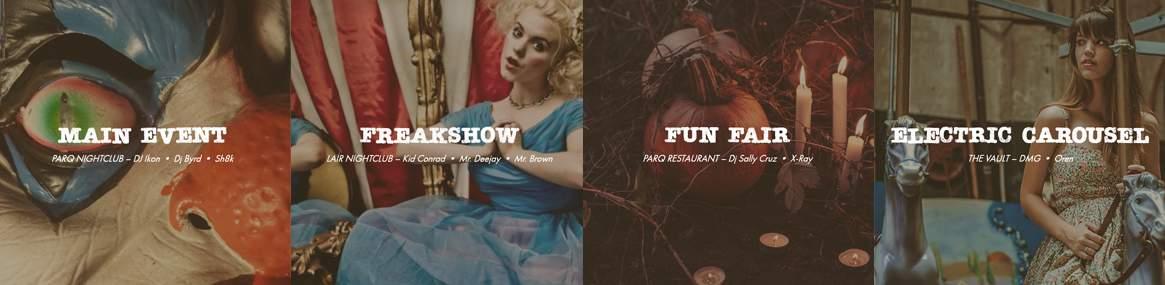 Parq Halloween Haunted Circus 2017