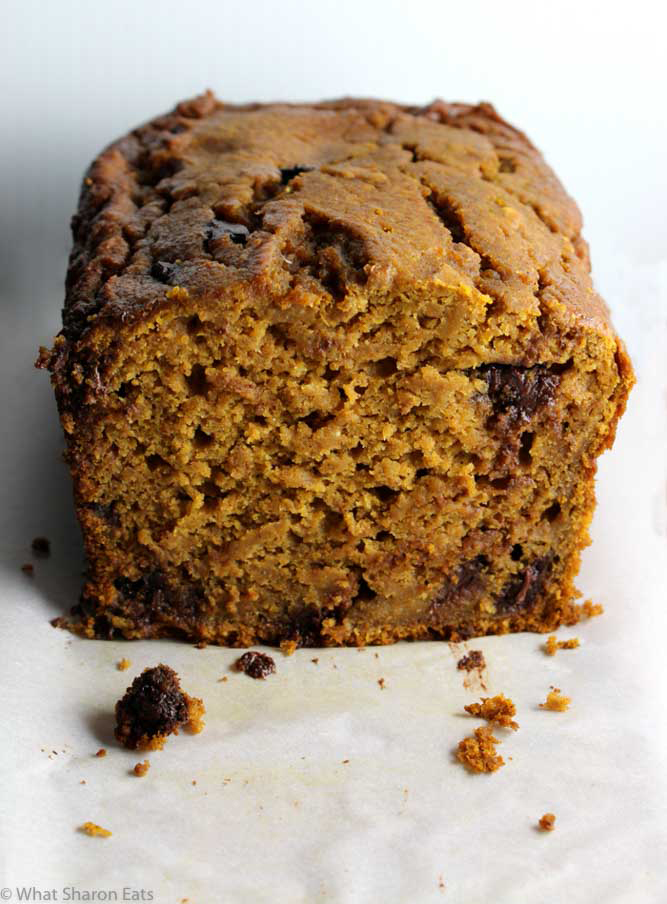 Pumpkin Bread with Honey and Chocolate