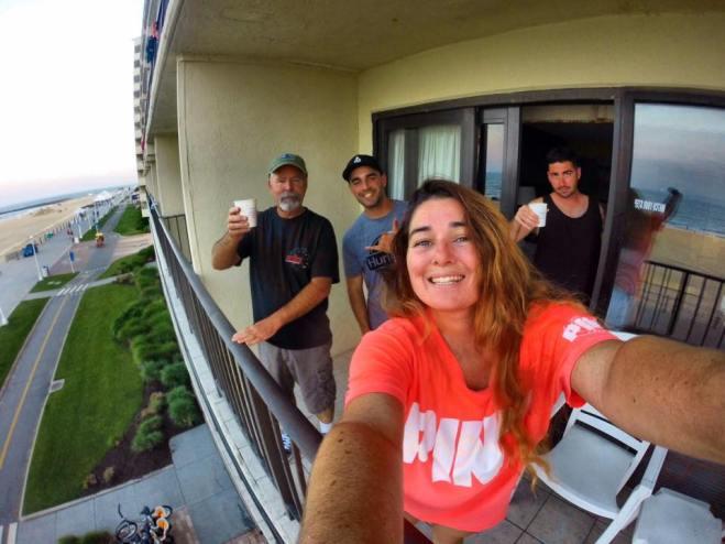 hotel balcony party :)