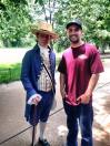 Josh with one of the tour guides (who stayed in character the entire time)