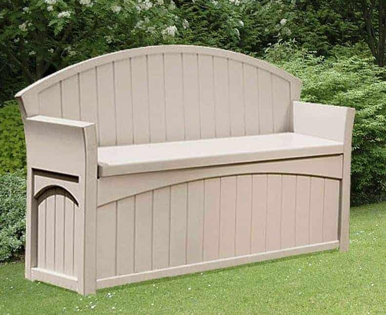 4 5 x 1 9 suncast resin patio storage bench