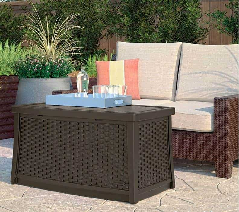 suncast coffee table with storage what shed