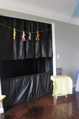 We had a great puppet show. My husband and I built the stand from pvc pipe.
