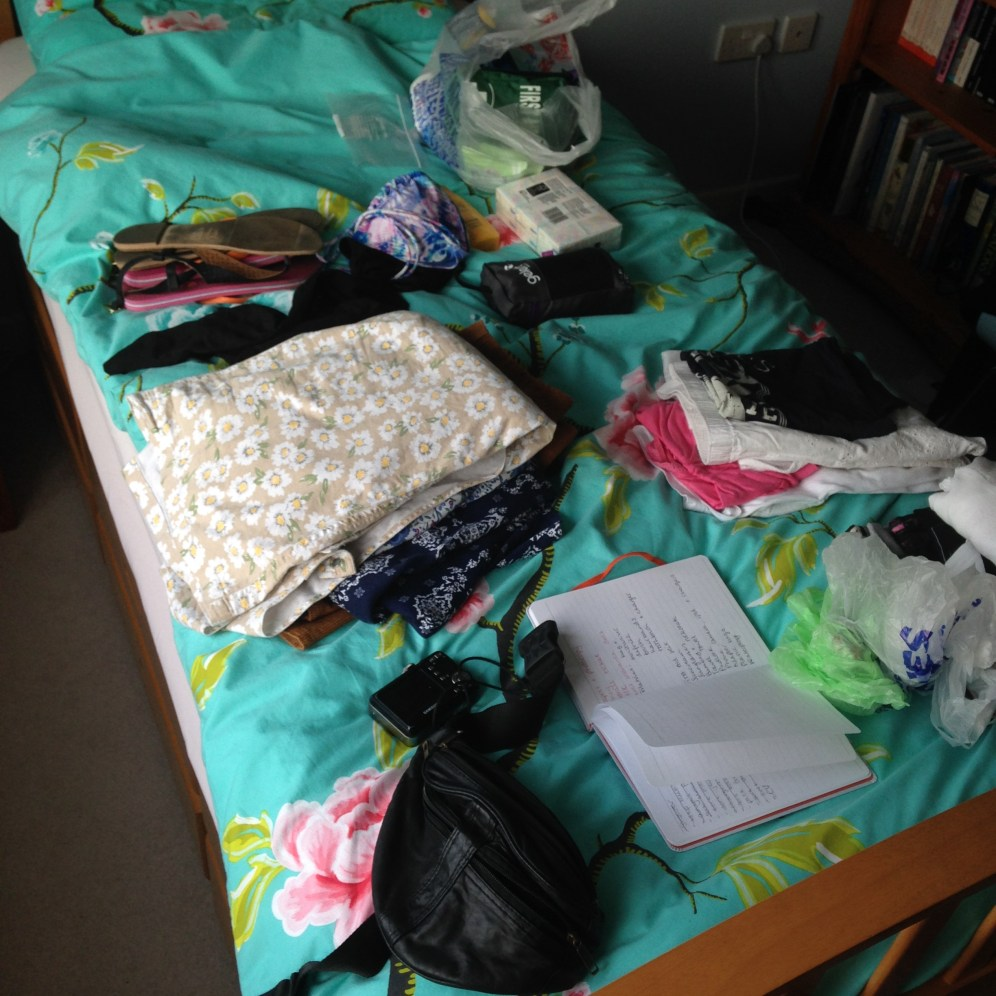 My current state of packing!
