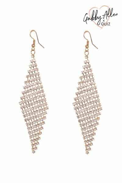 Gabby's Gold Diamante Diamond Drop Earrings