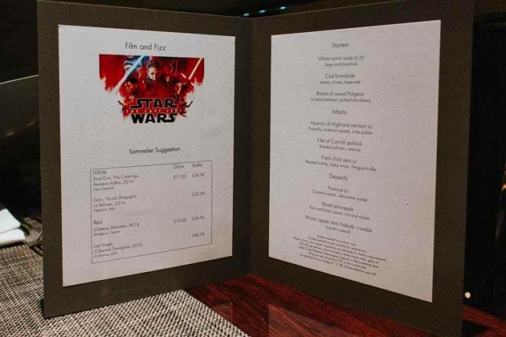 Star Wars Film & Fizz Night at One Aldwych Hotel London