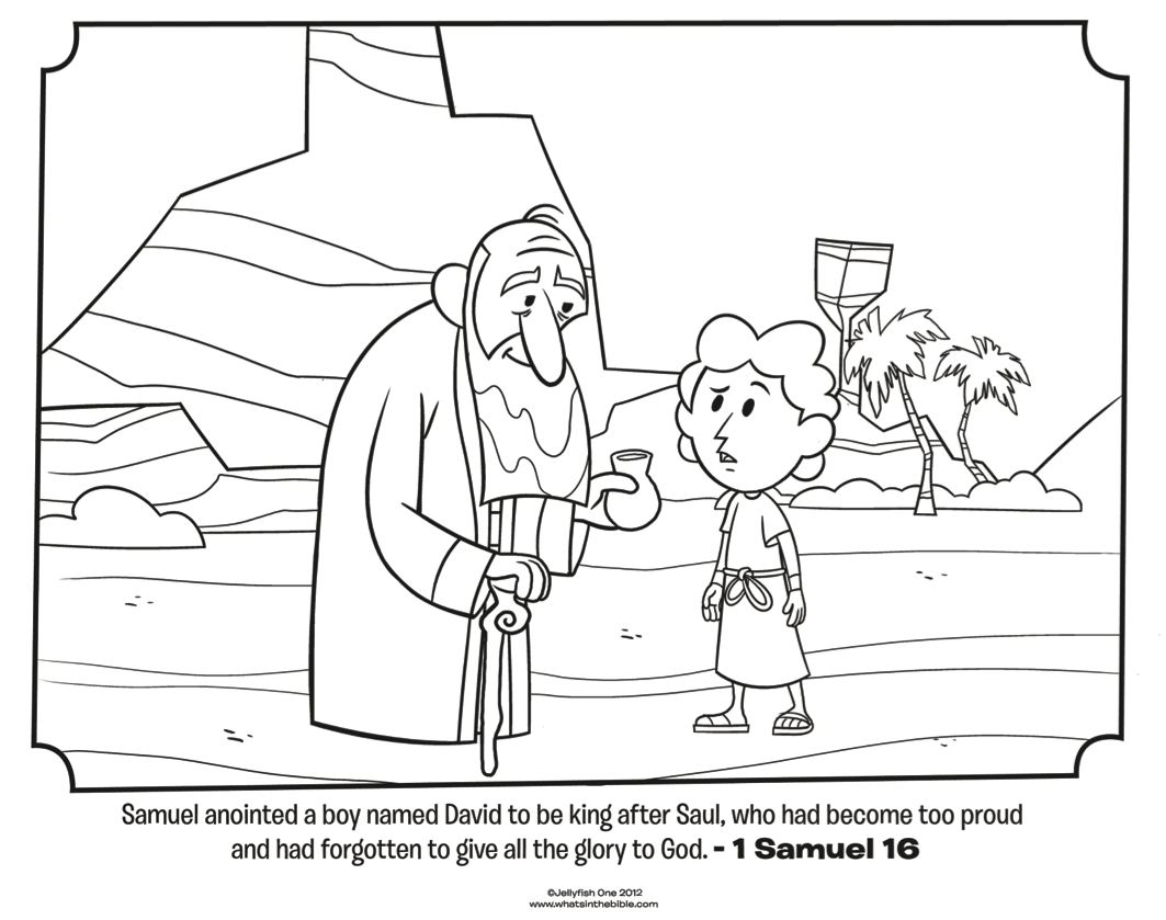 Free Coloring Pages Download Samuel Anoints David Bible Whats In The Of