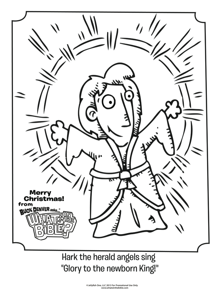 Hark The Herald Angels Sing Coloring Page Whats In The Bible