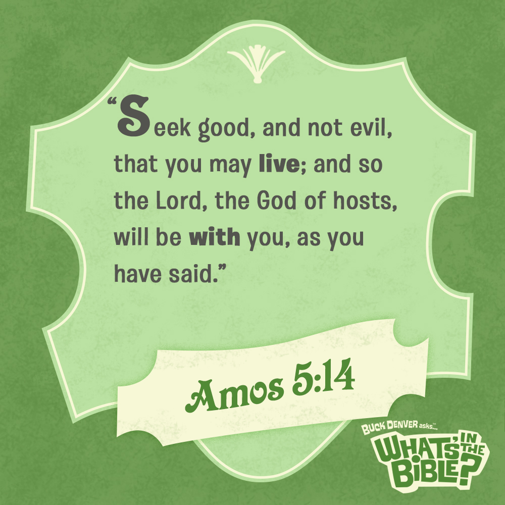 Amos 514 Verse Of The Day 82714 Whats In The Bible