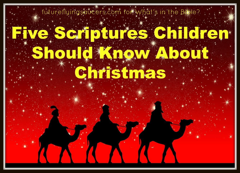 Five Scriptures About Christmas Children Should Know