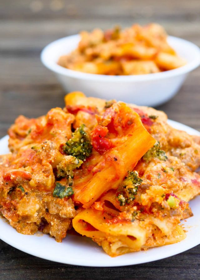 Easy Skillet Baked Ziti With Sausage And Ricotta Recipe