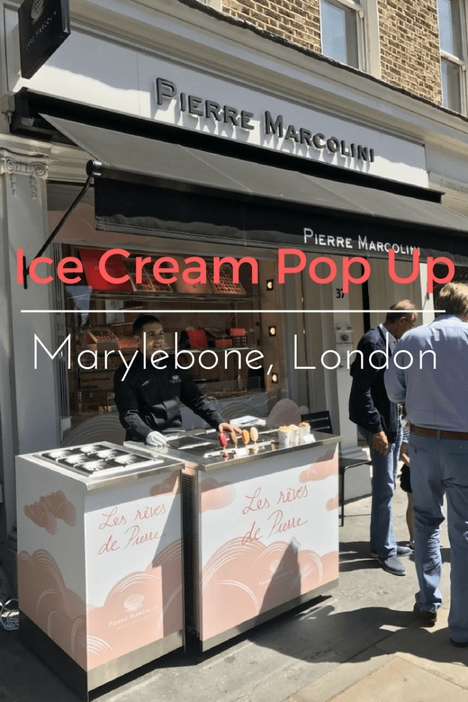 Pierre Marcolini pop up ice cream shop on What's Katie Doing? Blog