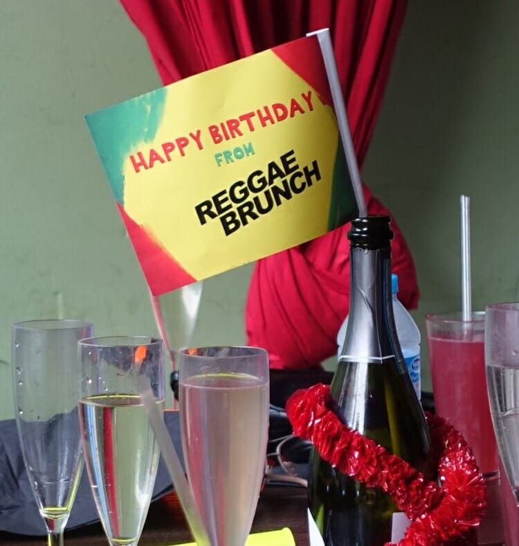 Happy Birthday from Reggae Brunch sign