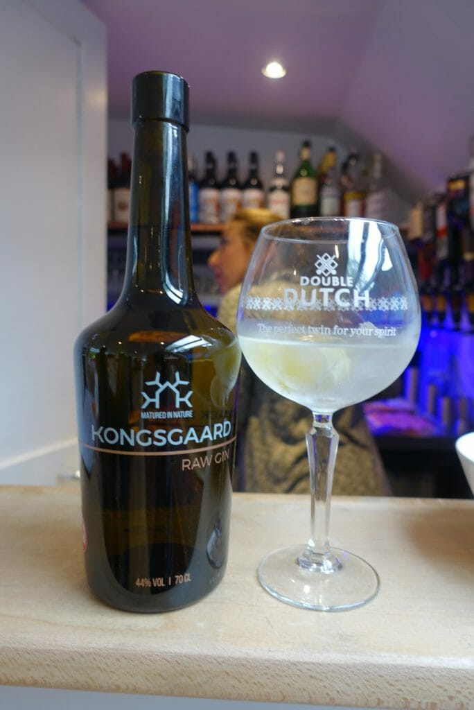 Konsgaard gin bottle and glass