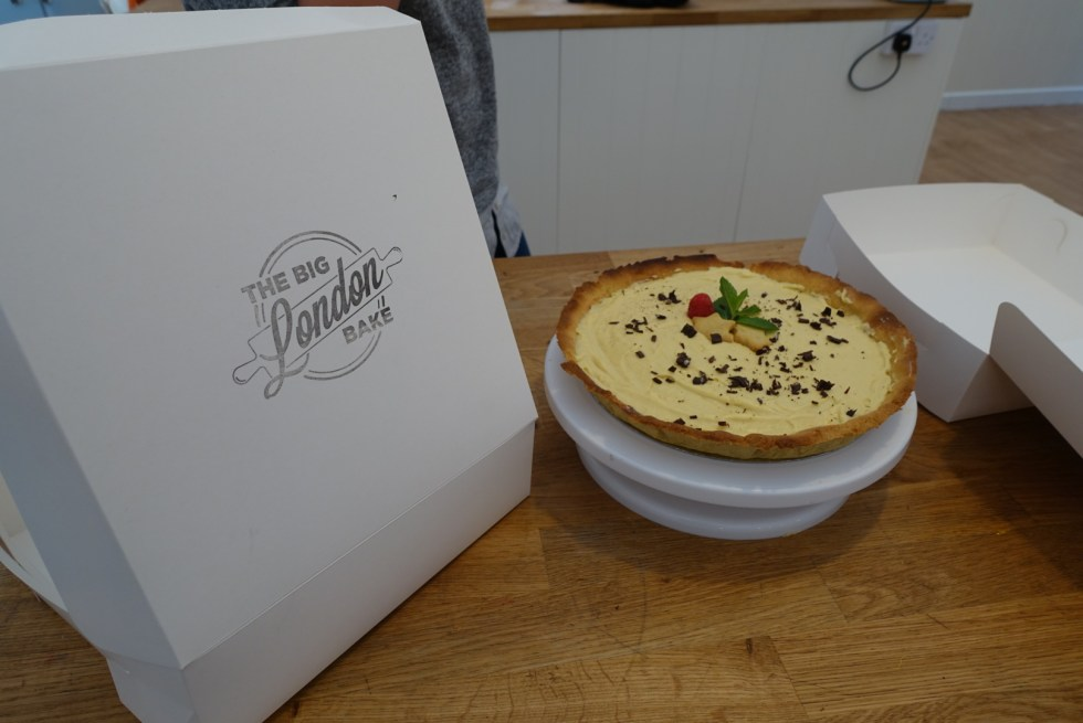 The Big London Bake box to take our tart home in