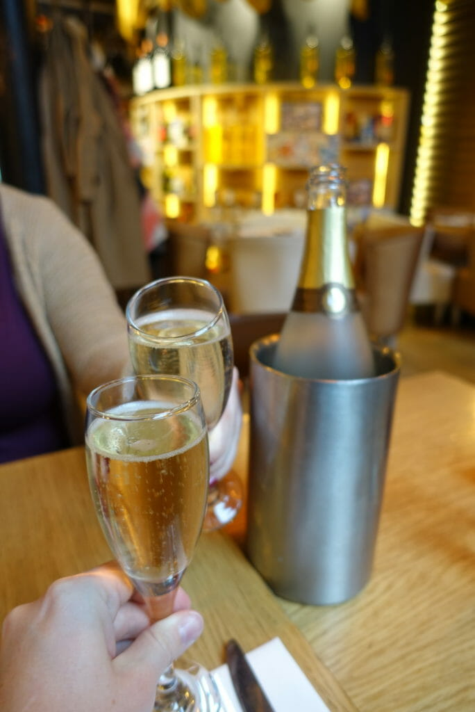 Cheers-ing with the cava