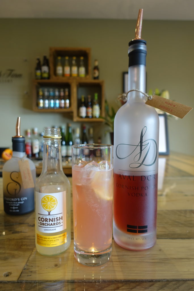 Aval Dor pink rose & hibiscus vodka with cloudy lemonade