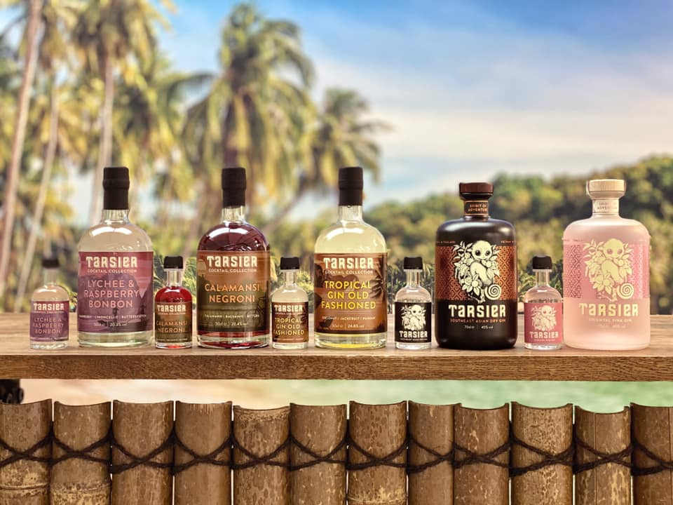 Tarsier gin and pre made cocktail range