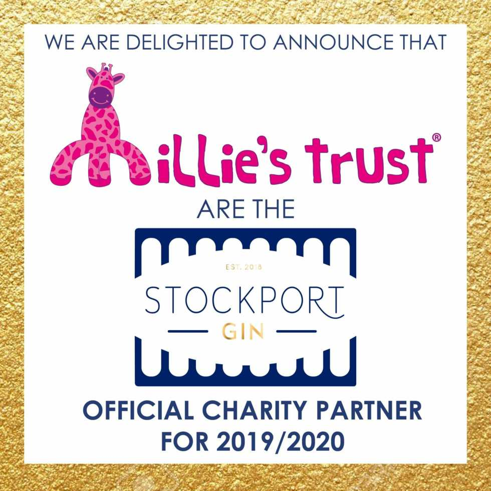 Stockport Gin official charity partner Millie's Trust