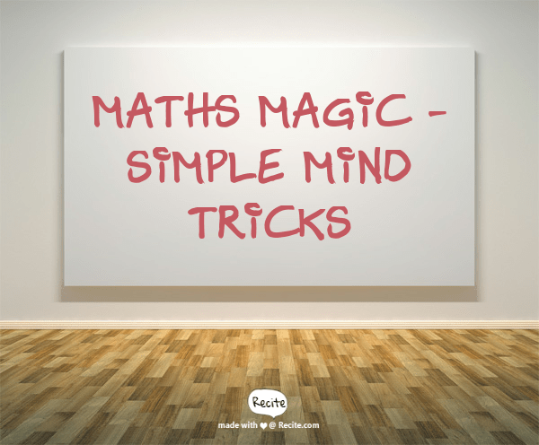 Maths Magic - Simple mind Tricks in hindi