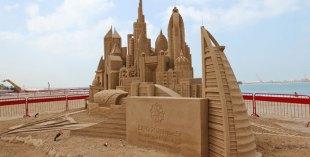 Stunning sand sculptures line the beach at Beach Walk
