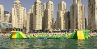 Wibit, inflatable sports park at JBR