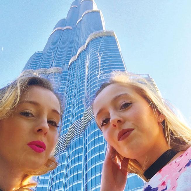 Fashion bloggers in Dubai - Dubai Desert Twins