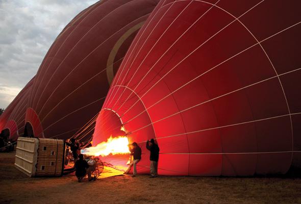 Hot-air balloon ride