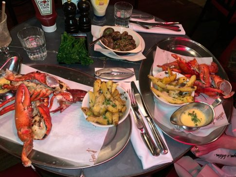 Feast at Burger and Lobster