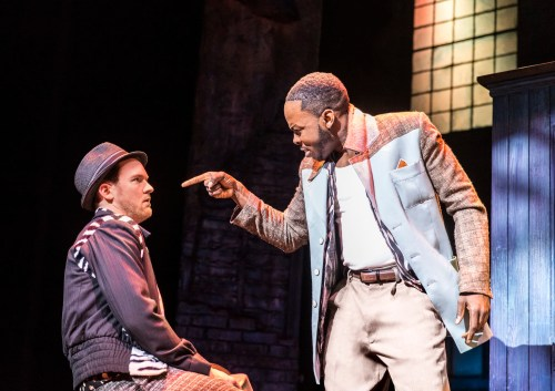 Killian Donnelly and Rolan Bell as Huey and Delray