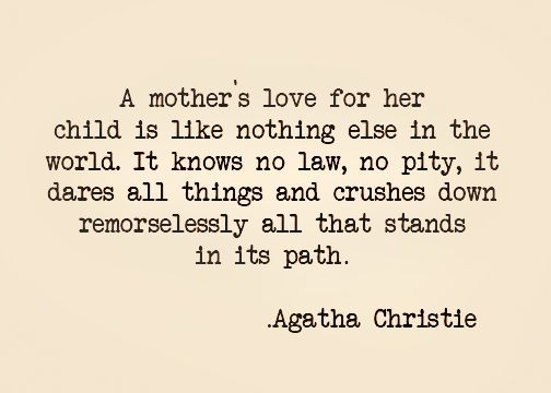 Agatha Christie on Mother