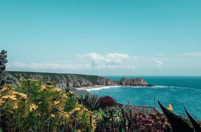 A Quick Guide To Minack Theatre and Porthcurno Beach - The stunning views from Minack Theatre out over Porthcurno, Cornwall