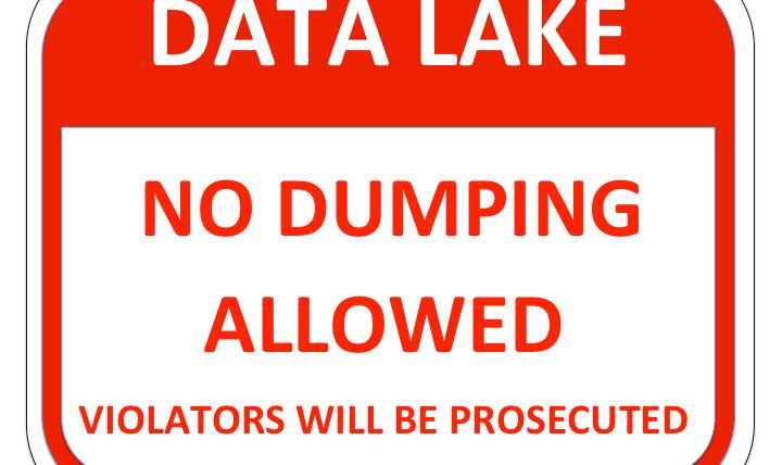 Data Lake NO DUMPING Sign