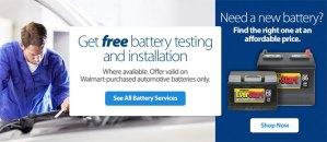 car battery walmart free install