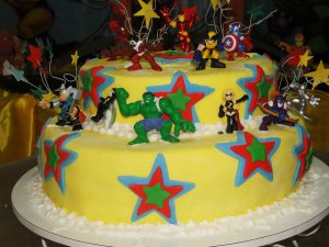 kids cake decorations marvel superhero topper