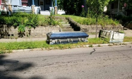 Casket thrown out with the garbage in Akron; here's what was inside