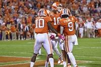 Etienne's three TDs lead No. 4 Clemson's rout of Boston College
