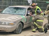 Mock trauma scene shows Columbia County students dangers of texting and driving
