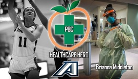 Former Women's Basketball Player Brianna Middleton Honored as PBC Healthcare Hero