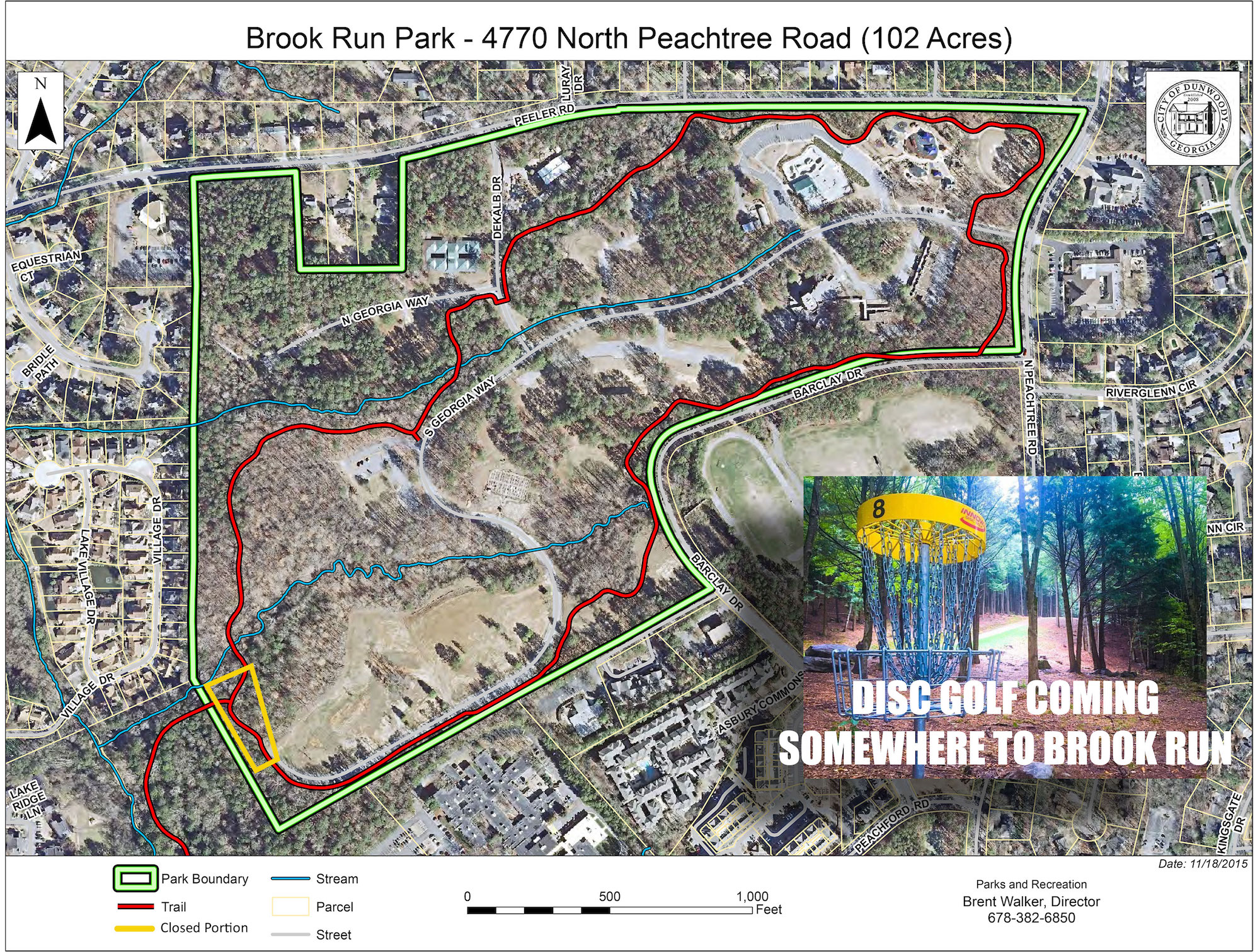 Disc Golf Course Coming to Brook Run Dunwoody