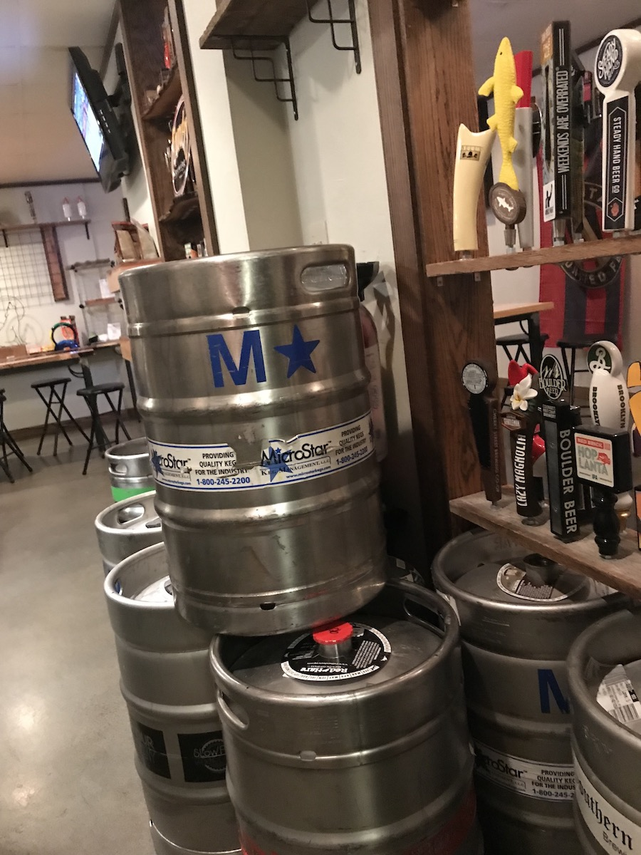 The kegs they went through in the 2 hours we were there