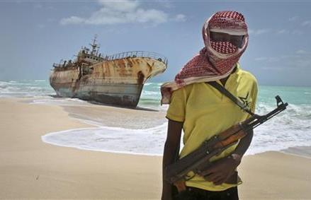 WORLD SEA PIRACY FALLS FOR THIRD STRAIGHT YEAR