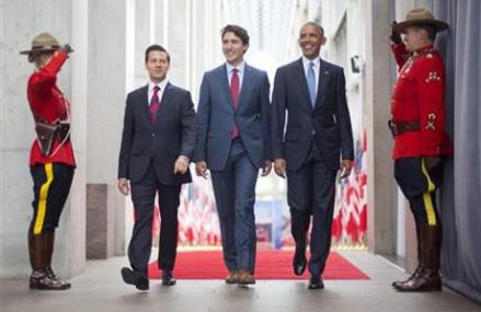 North America leaders urge against Trump's isolationism