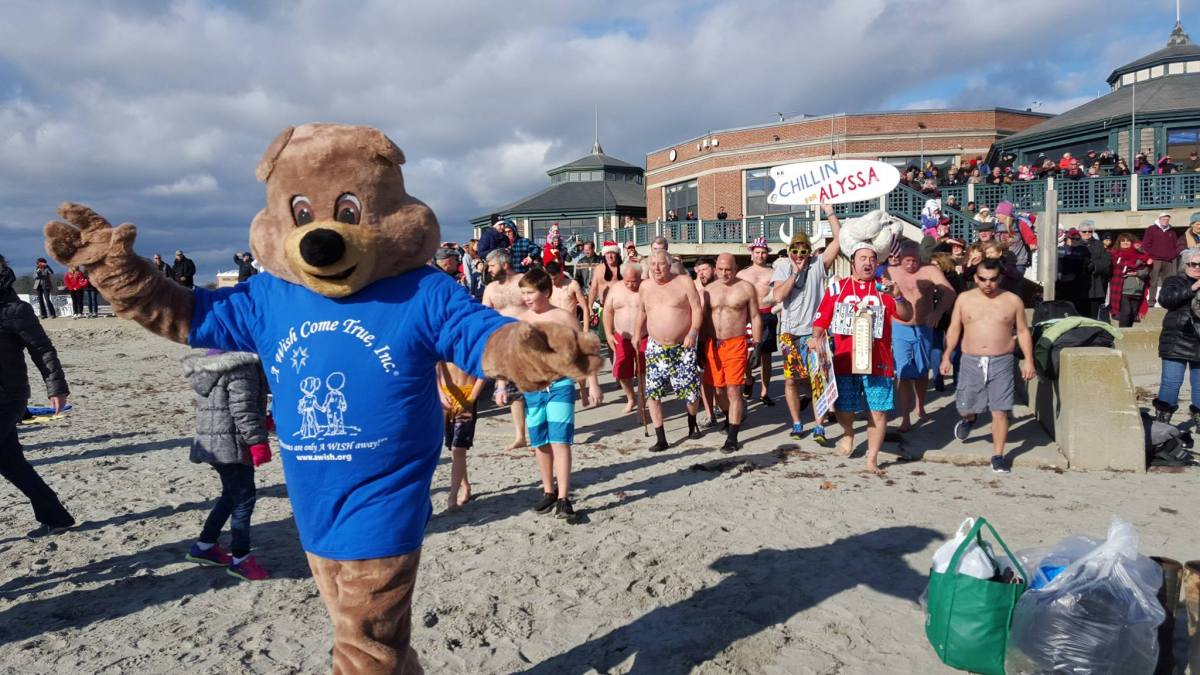 Easton's Beach Polar Bear Plunge