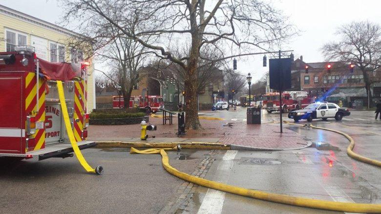 Scene from William Street at Bellevue looking towards Memorial Blvd