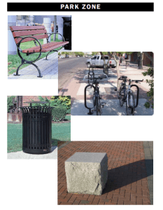 """Proposed Amenities for """"Park Zone"""" of Broadway Streetscape Project"""