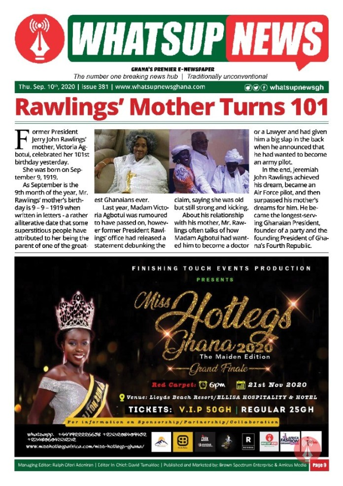 Rawlings' Mother Turns 101